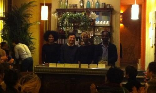 Armelle Abibou, Geoffrey Dahm, Annabelle Lengronne, Assane Timbo
