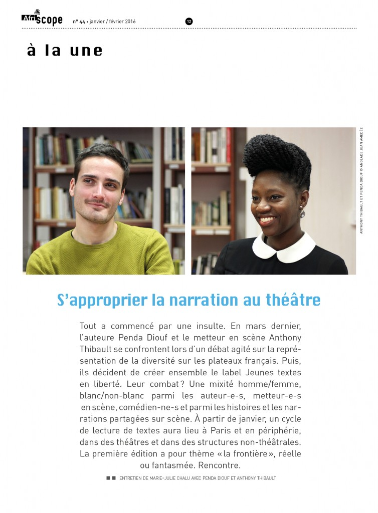 « S'approprier la narration au théâtre »